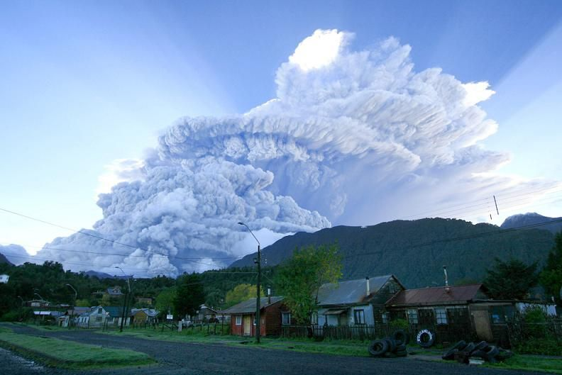 Volcan El Chaiten desde Chile