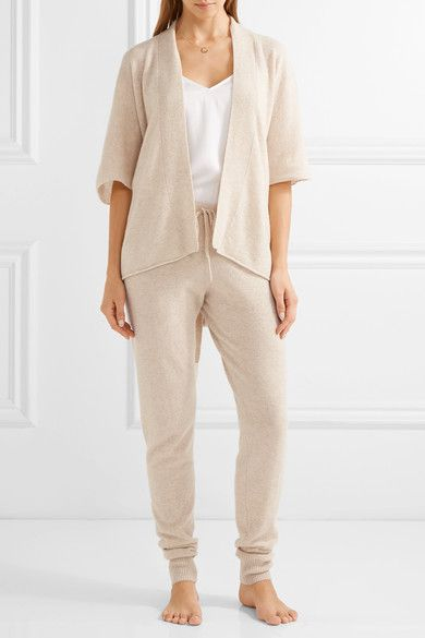 02194080ff47 Madeleine Thompson - Bagby Cashmere Track Pants - Beige