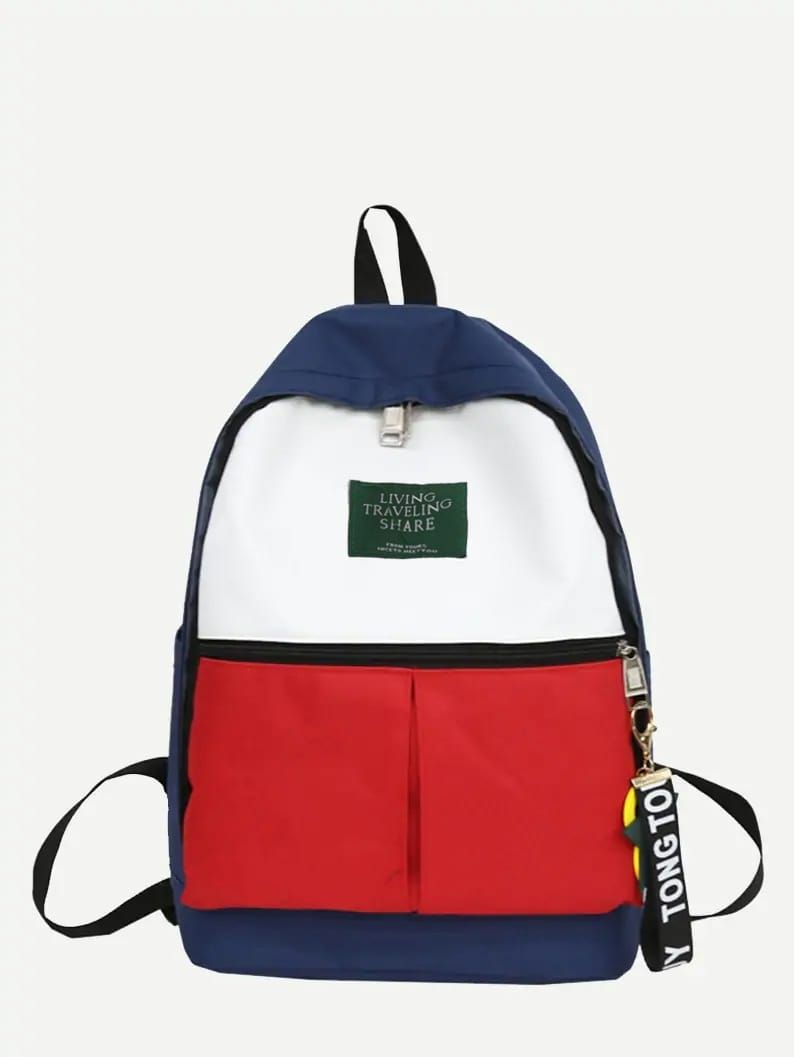 Kids Color Block Backpack #bag #bags #man #woman #fashion