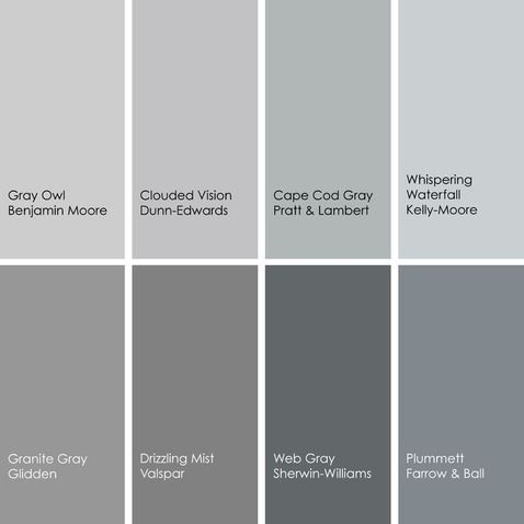 Gray Shades shades of gray | paint colors:: gray :the perfect gray