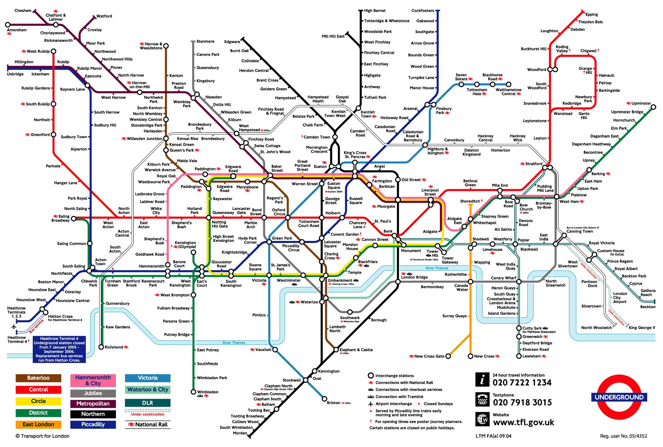 London Underground Map Route Poster he Tube Photo Rapid Transit System Print