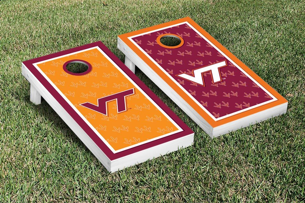 Virginia Tech Hokies Cornhole Game Set Border Version 2