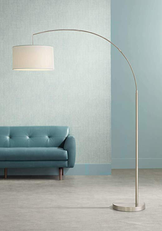 Cora Modern Arc Floor Lamp Brushed
