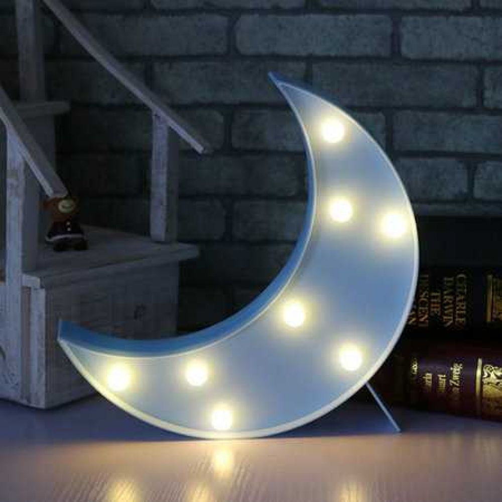 Lovely Crescent Moon Bedroom Lamp 3d Night Light Moon Nightlight Bedroom Lamps