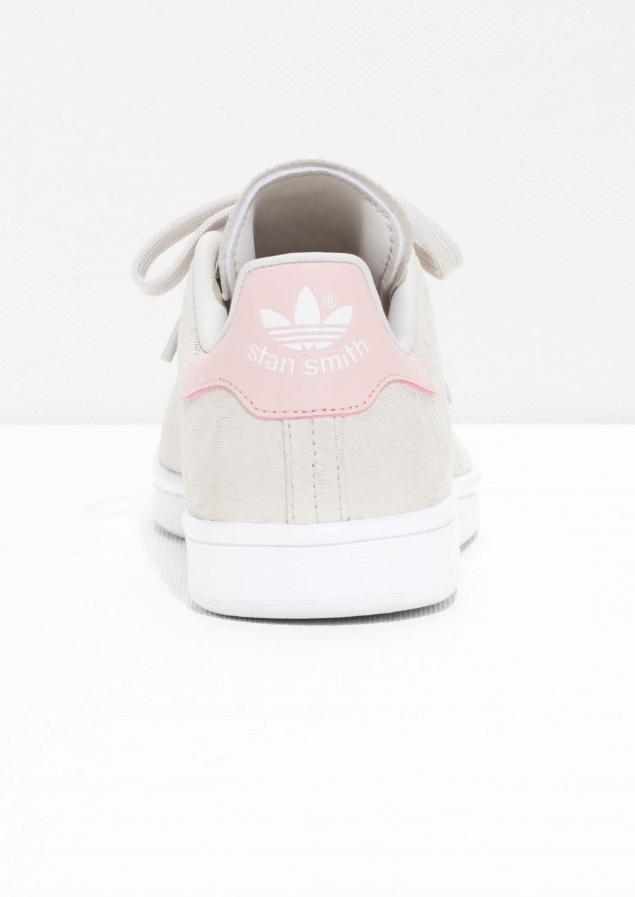adidas stan smith grey and pink