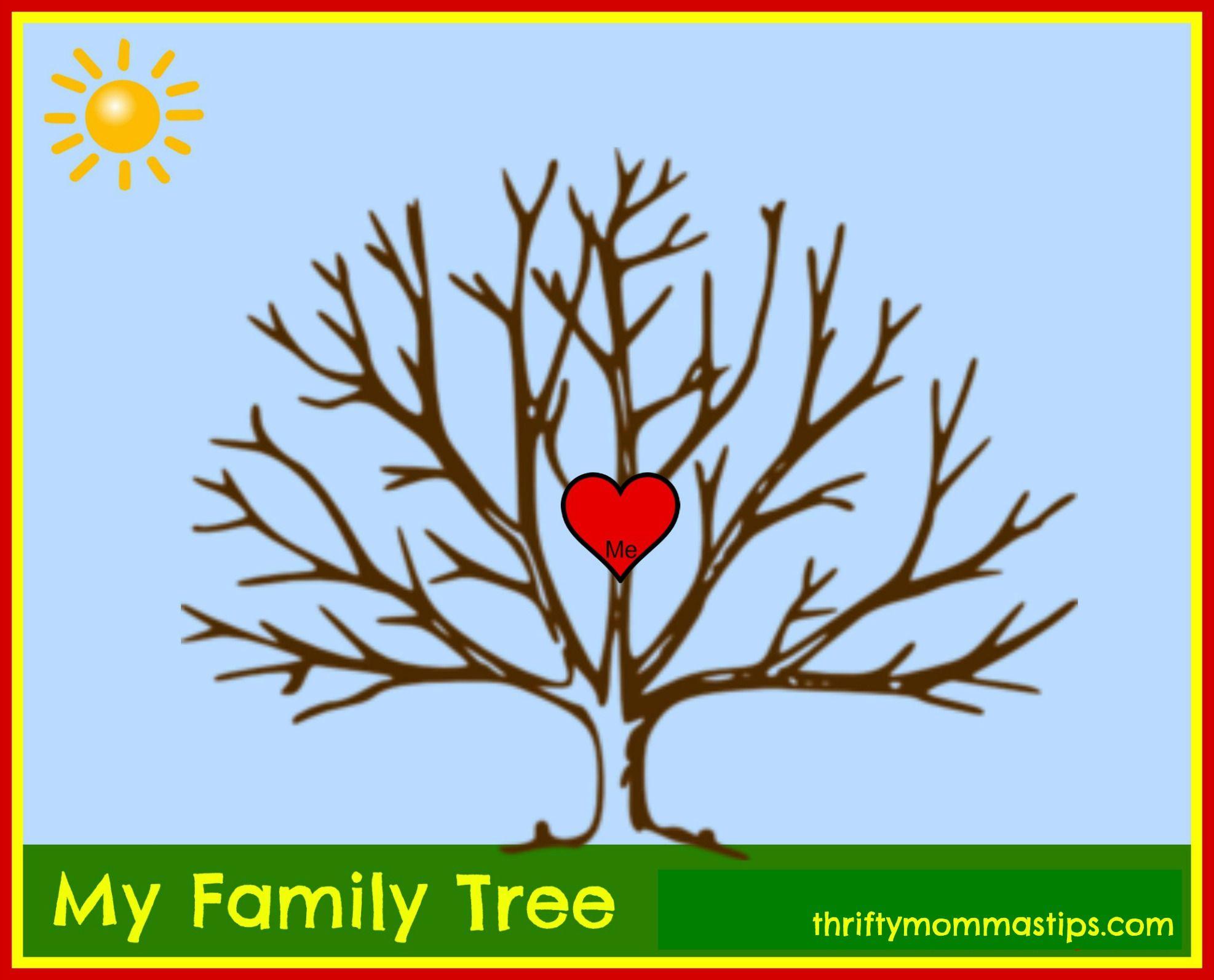 Adoption And Family Tree Free Printable Pinterest Family Tree