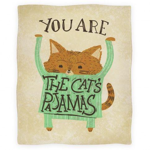 Cat's Pajamas Blanket Blankets   LookHUMAN