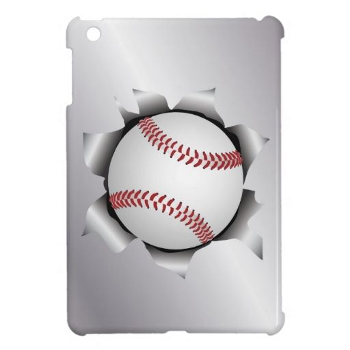 baseball thru metal sheet iPad mini case