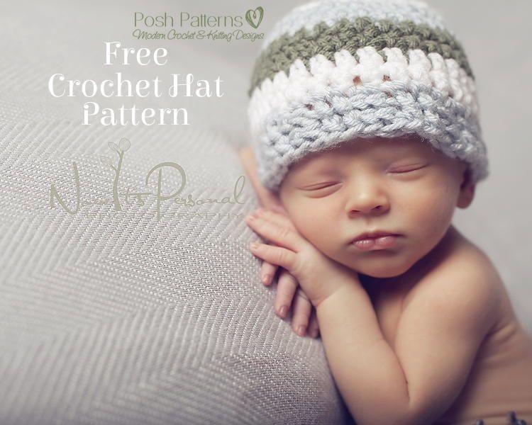 Sweet Crochet Baby Hat | baby hats | Pinterest | Croché, Ganchillo ...