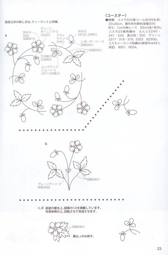 Japanese embroidery book embroidery pattern botanical | patrones ...