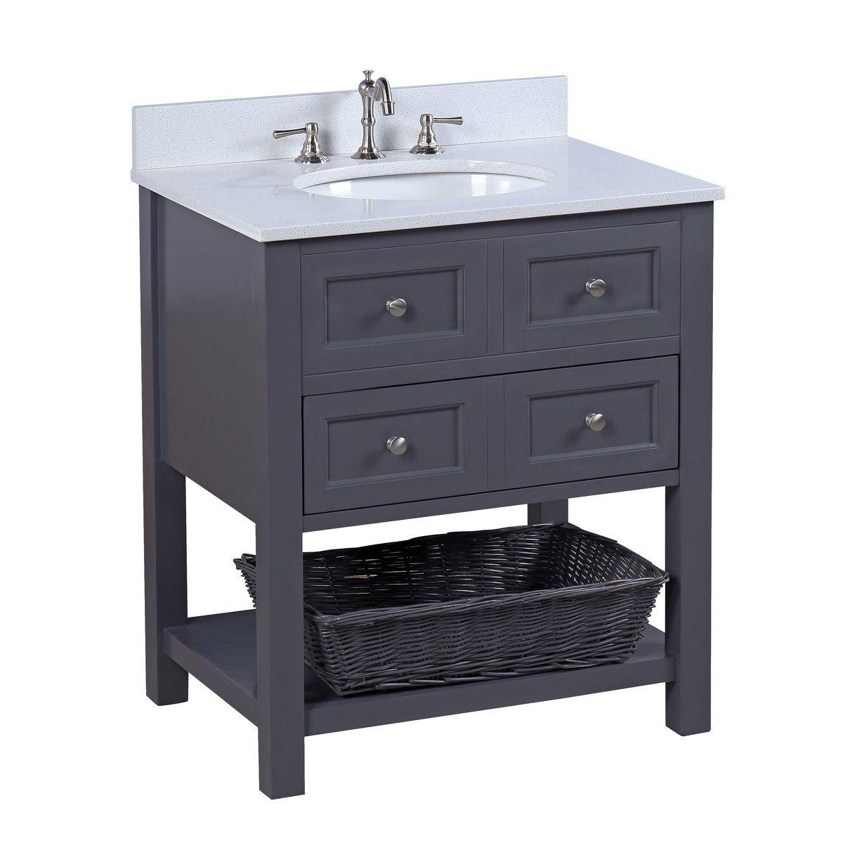 New Yorker 30 Inch Vanity With Quartz Top In 2021 30 Inch Bathroom Vanity Single Bathroom Vanity Bathroom Vanity [ 1200 x 1200 Pixel ]