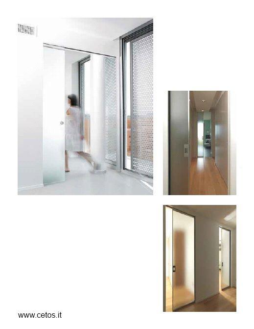 Controtelai Eclisse a scomparsa per porte interne in vetro | Porte ...