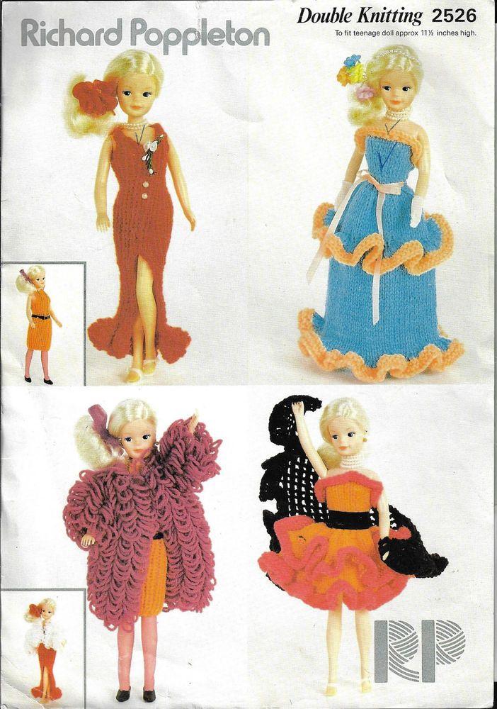 Fashion Doll Clothes Poppleton 2526 Knitting Pattern Teenage Sindy