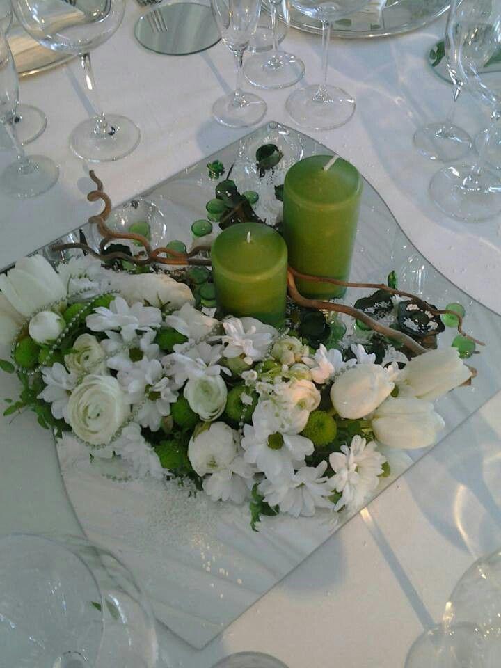 Centrotavola su specchio con candele decorowanie stolu pinterest centerpieces mirror - Centro tavola con candele ...