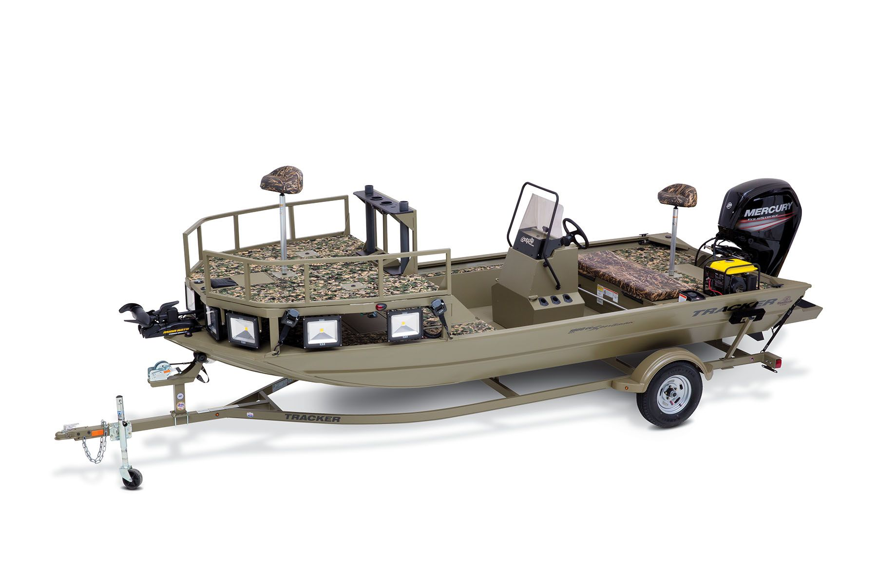 Tracker Grizzly All-Welded 1860 CC Bow Fishing Sportsman ...