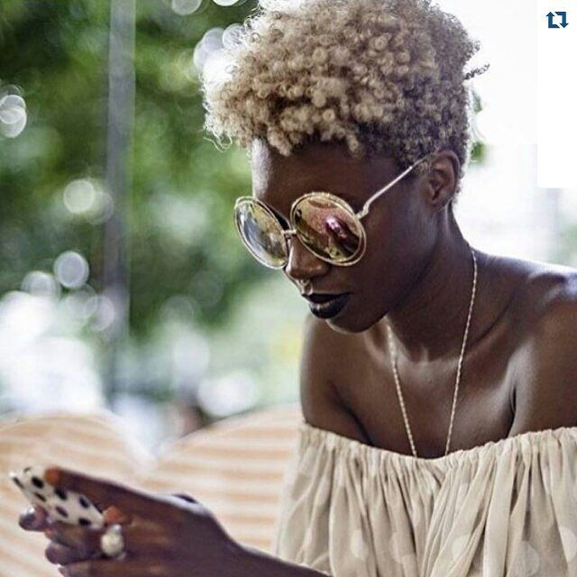 Blonde Afro Natural Hair Dark Skin Natural Hair Styles Short