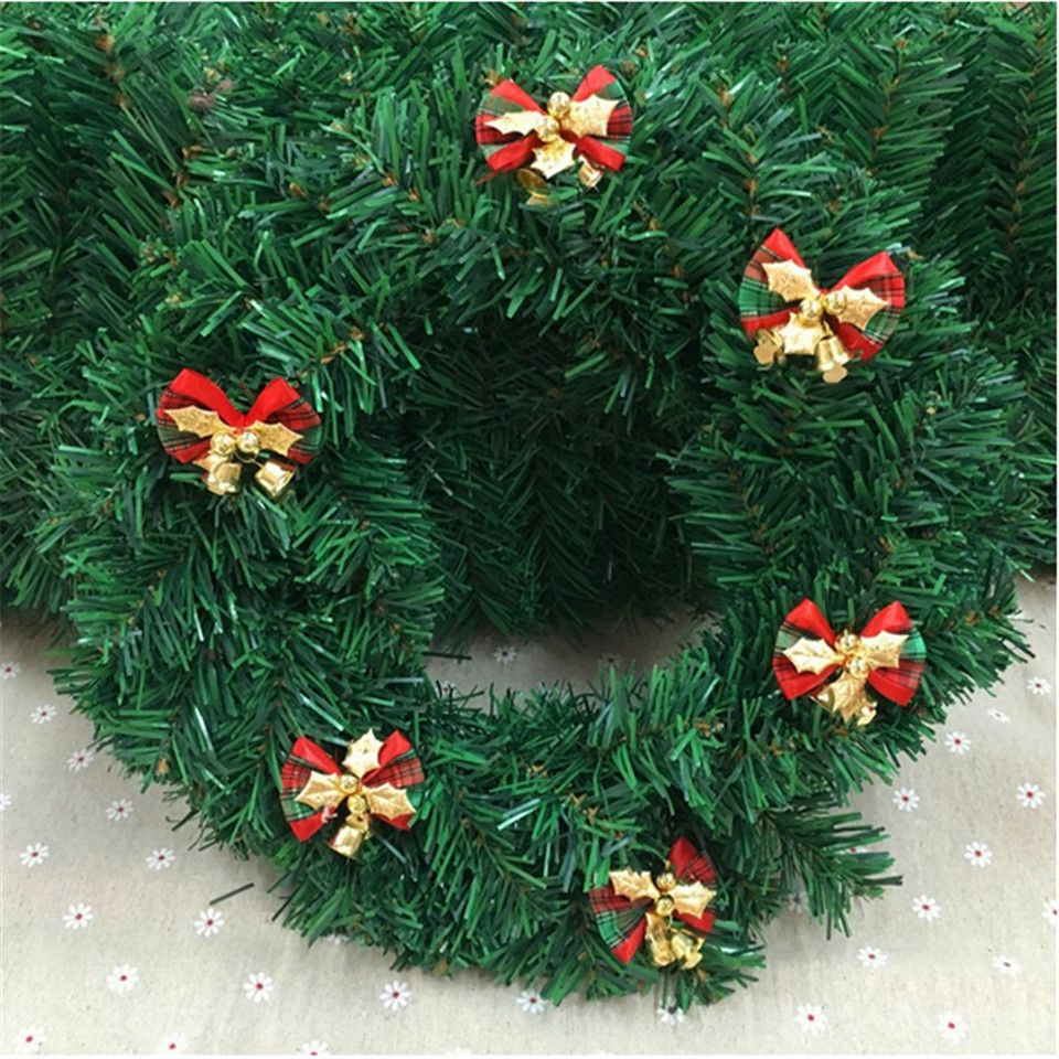 2PCS Christmas Tree Bow Christmas Ornaments Bell DIY Home Garden ...