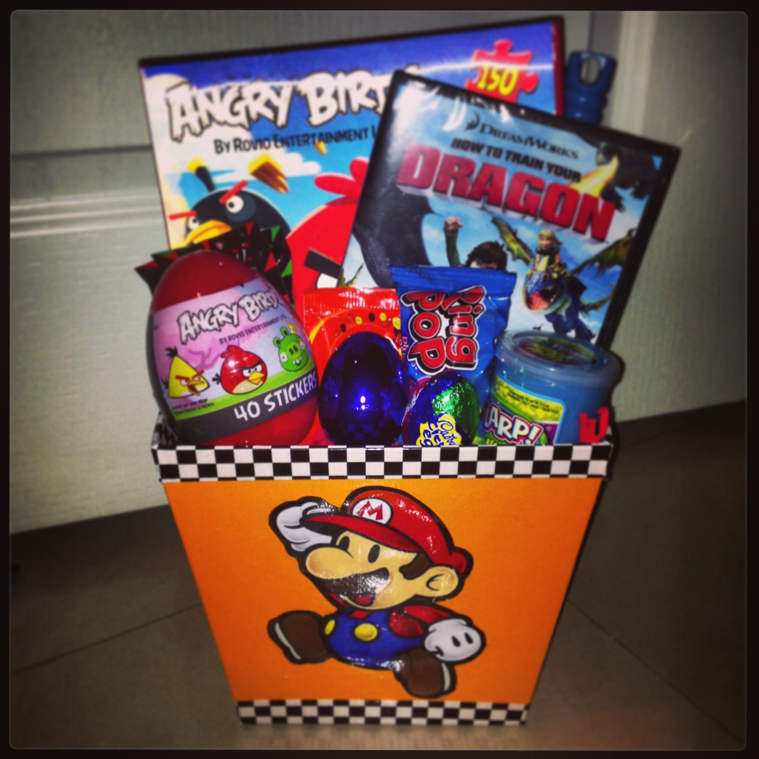 Diy mario brothers easter basket easter baskets pinterest diy mario brothers easter basket negle Images