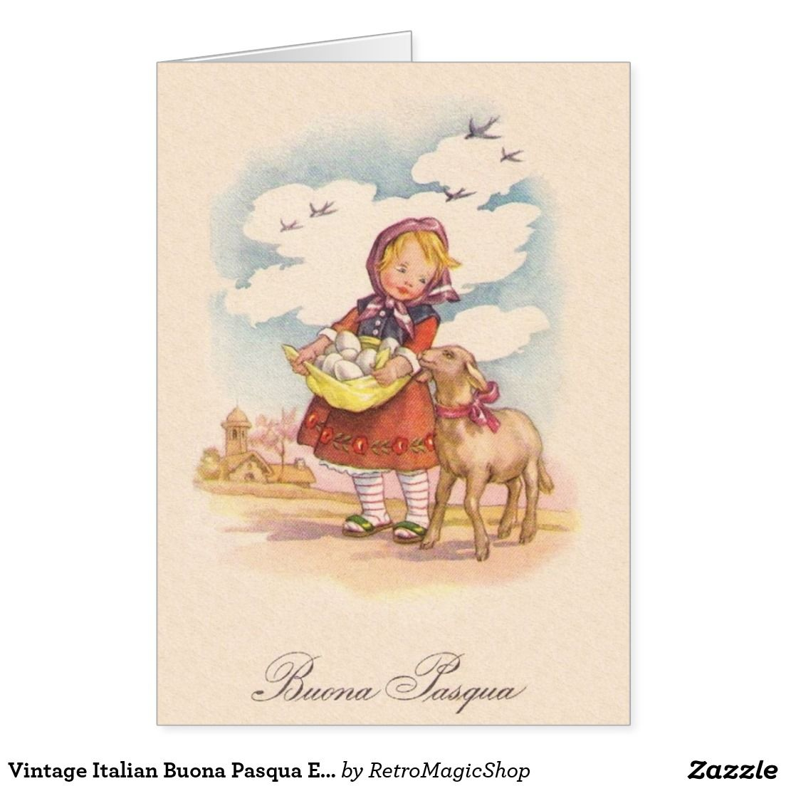Vintage Italian Buona Pasqua Easter Card Vintage Cards Easter And