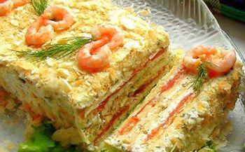 Запеканка из лососины с сыром