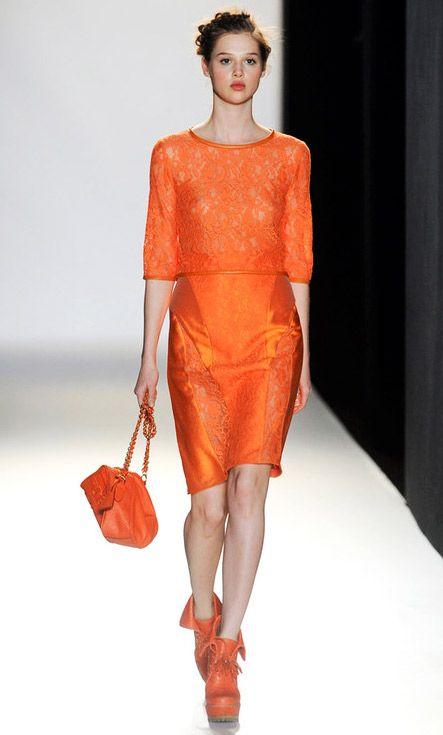 Elegant Orange, Orange & Orange !    Mulberry Fall-Winter 2012.