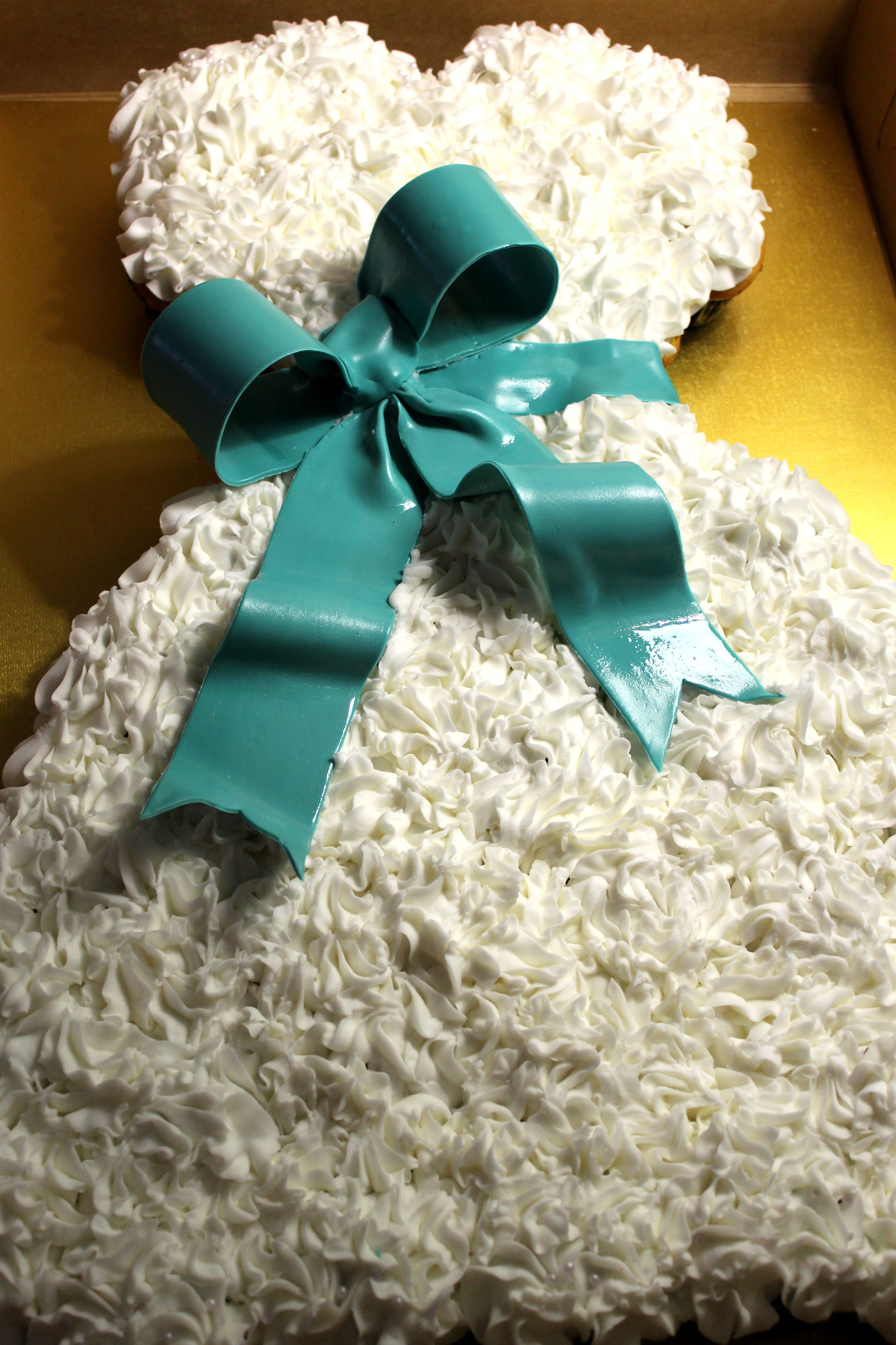 Wedding Dress Cake, Wedding Dress Cupcake Cake. | Pull - A - Part ...