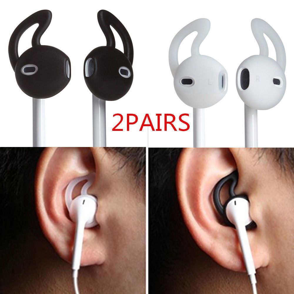 Airpods Earhooks Cover 2 Pairs Silicone Protection Air Pod Earbuds For Iphone 7 Iphone Earphones Apple Earphones Earbuds