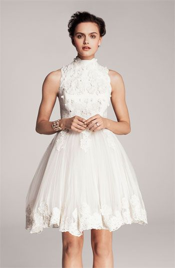 Ted baker london 39 telago 39 embroidered tulle frock via for Nordstrom short wedding dresses