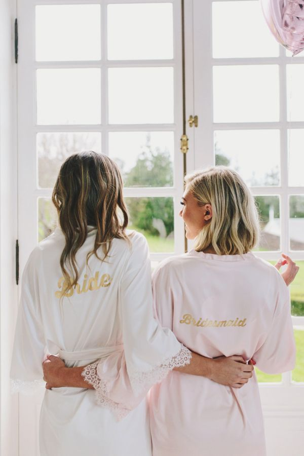083a33d4c5cf2 Bride + Bridesmaid bridal party getting ready robes! Bridal shower and more!
