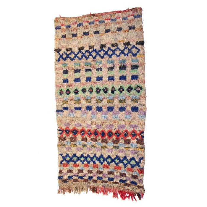 Casablanca Market Boucherouite Azilal Hand-Woven Ivory Area Rug & Reviews | Wayfair