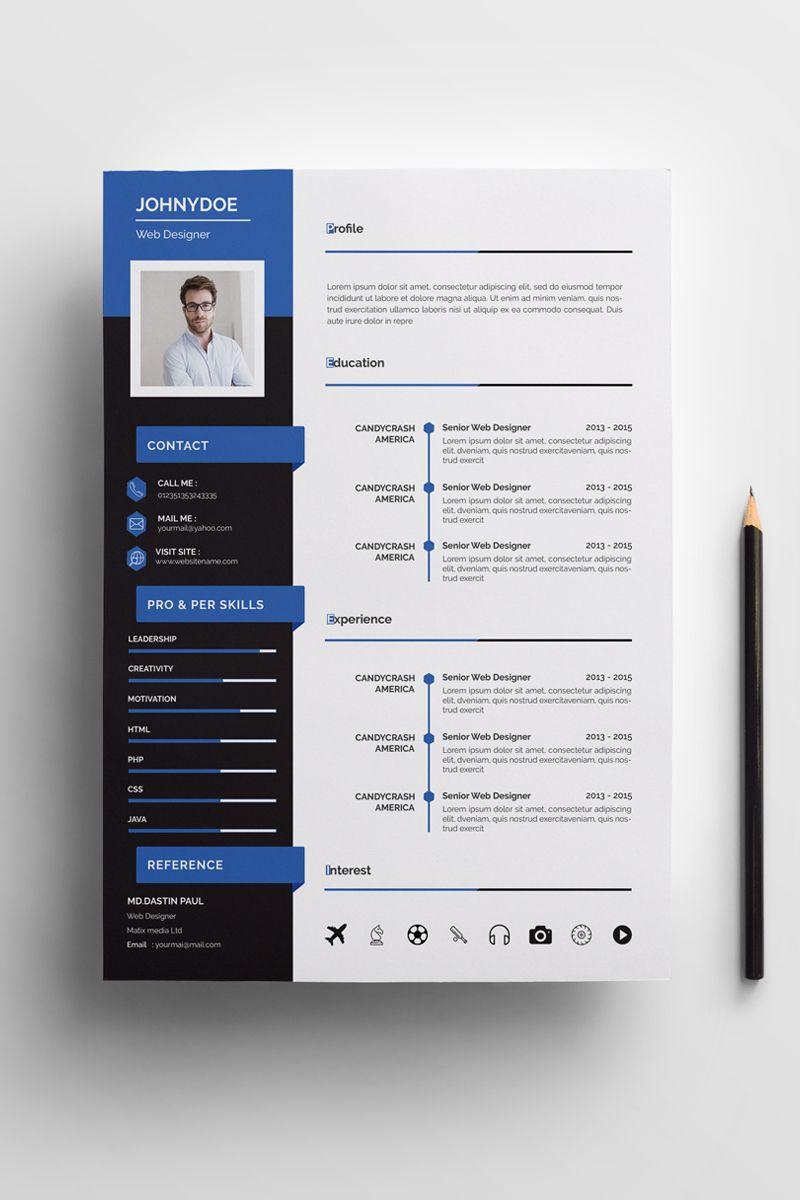 Johnny Doe Web Designer Resume Template 78922 Resume Design Web Designer Resume Resume Design Free