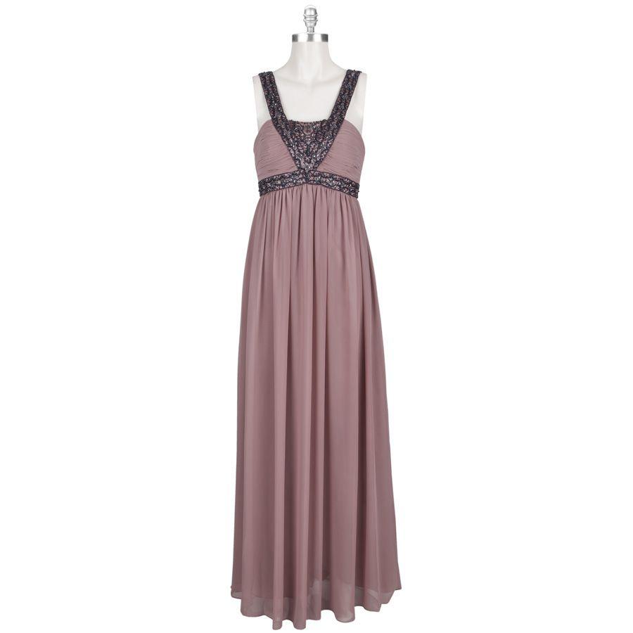Wedding dresses department stores  Betsy u Adam Beaded Chiffon Dress VonMaur Air Force Ball  Fashion