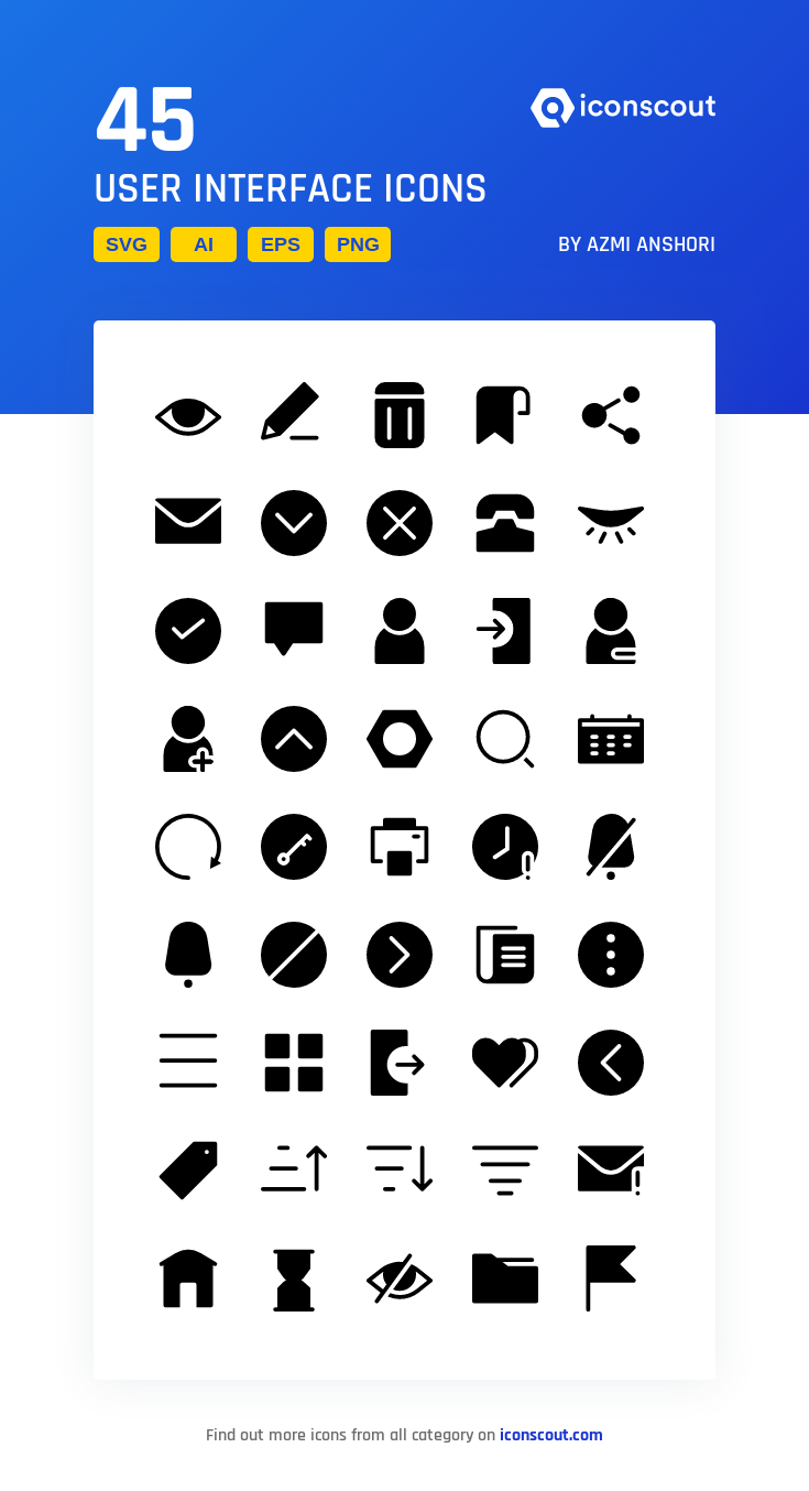 Download User Interface Icon pack Available in SVG, PNG