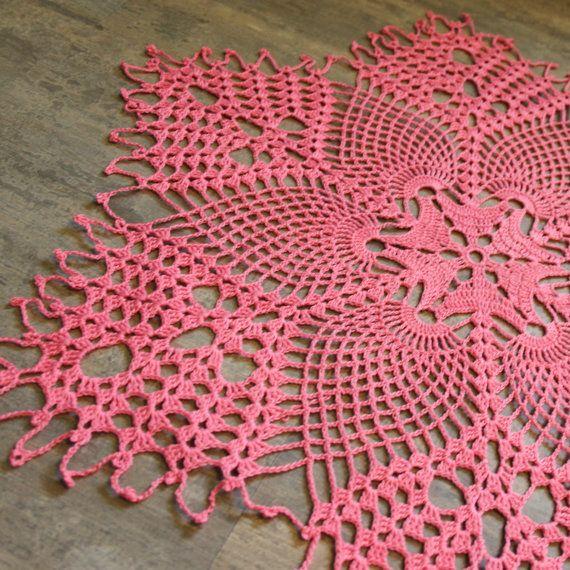 Large Pineapple doily Crochet Doilies lace doilies by DoilyWorld ...