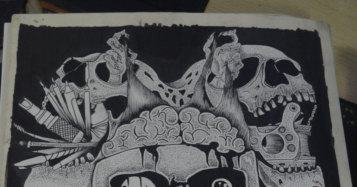 Paling Bagus 25 Sketsa Gambar Tato Tengkorak Gambar Rajah Hitam Tengkorak Tulang Seni Sketsa Cara Mudah Menggambar Karakte Gambar Tato Tato Tengkorak Gambar