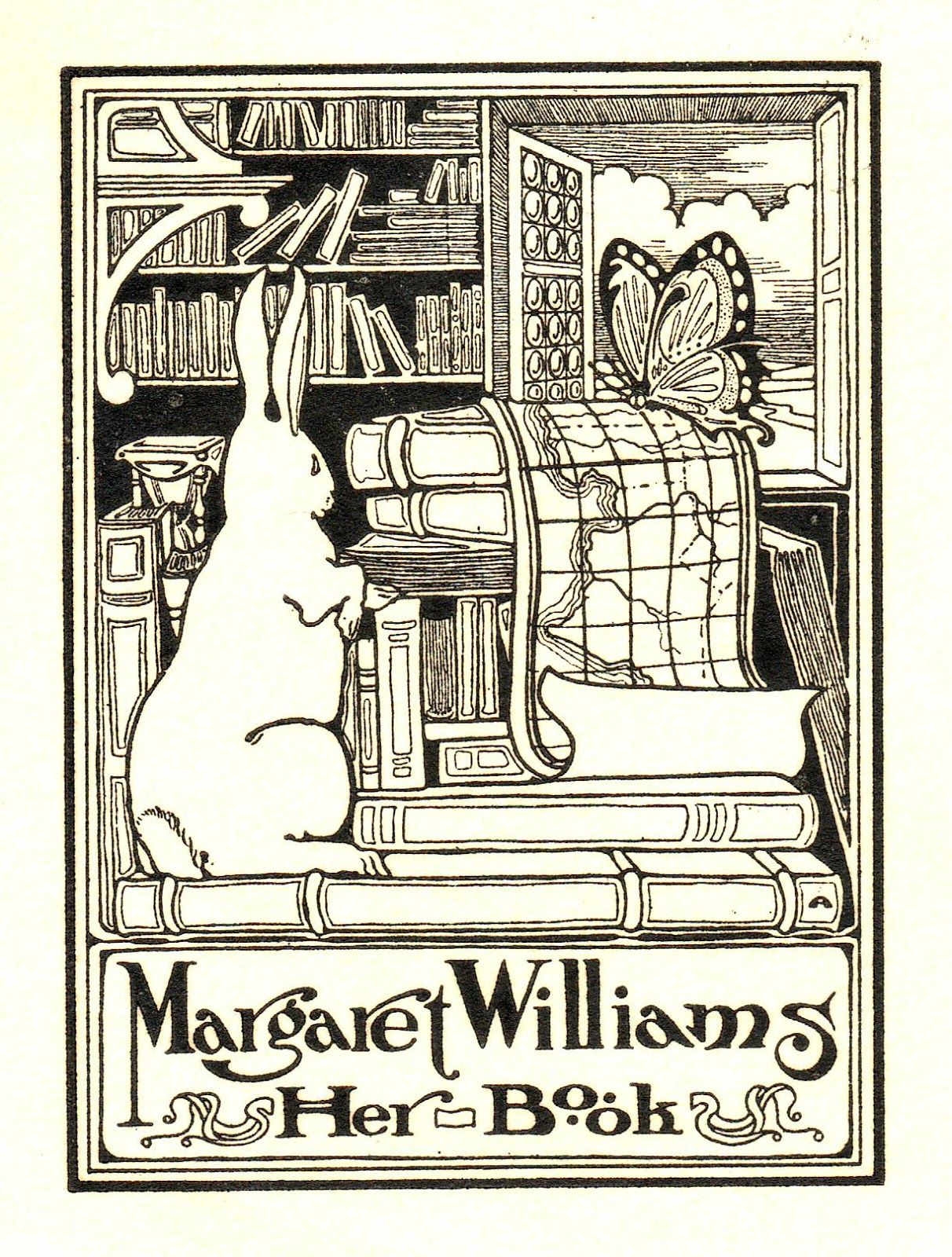 Dibujos De Libros Antiguos Love All Of The Books In This Bookplate S Book Lover Ex