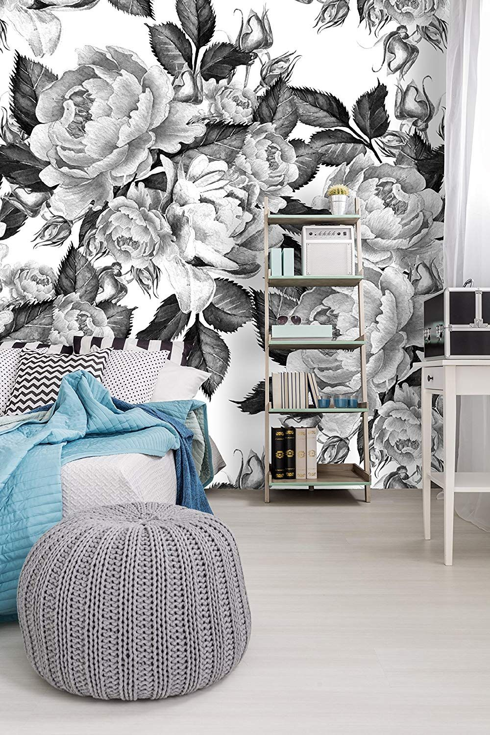 Removable Wallpaper Mural Peel & Stick Peonies