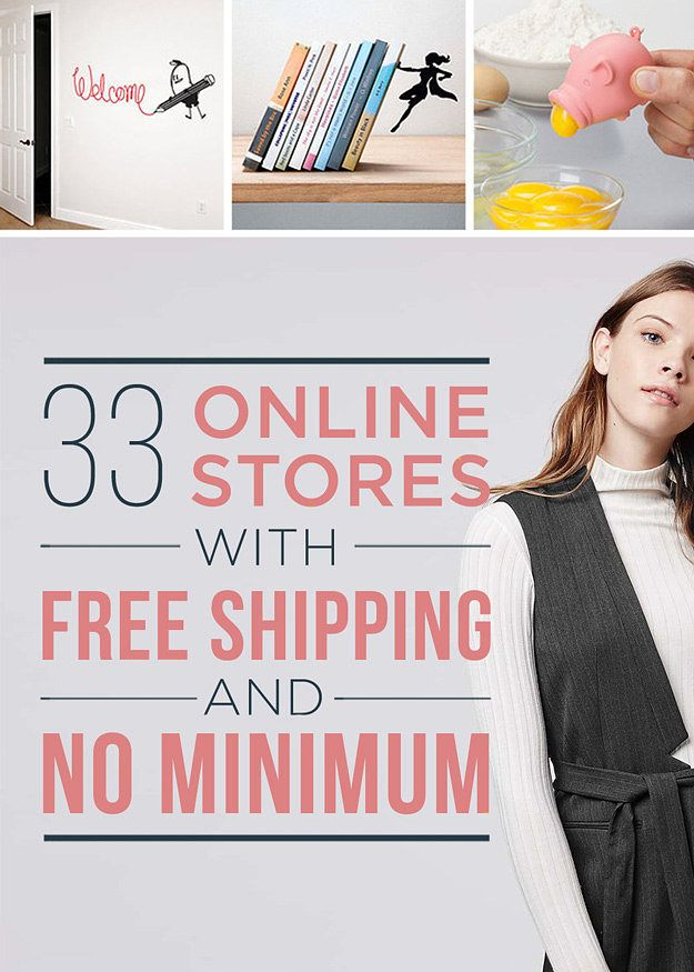 Free Shipping Sites >> 32 Online Stores With Free Shipping And No Minimum Shut Up And
