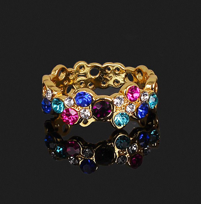 Women Fashion Style Cute Lovely Round Multicolor Ring Love Elegant Flower  **S01 3.99 FROM CHINA I THINK, NOT REAL BUT PRETTY K.:)