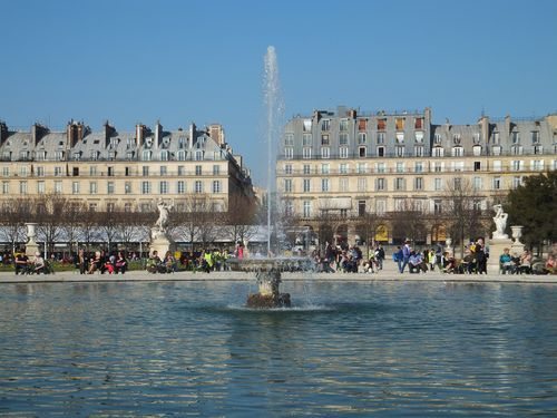 A Spring Day at the Jardin des Tuileries in Paris