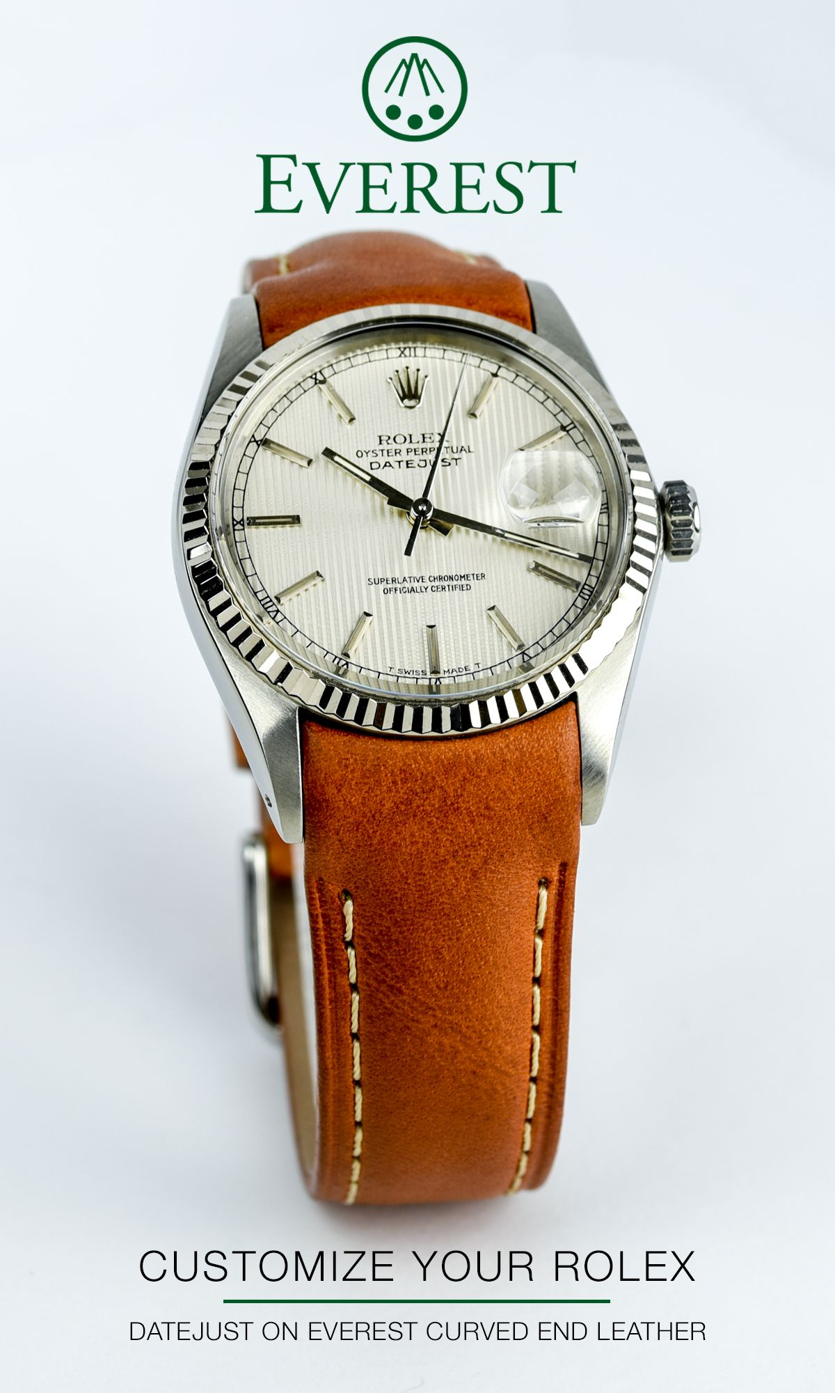 Shop SwissMade leather watch bands for your Rolex