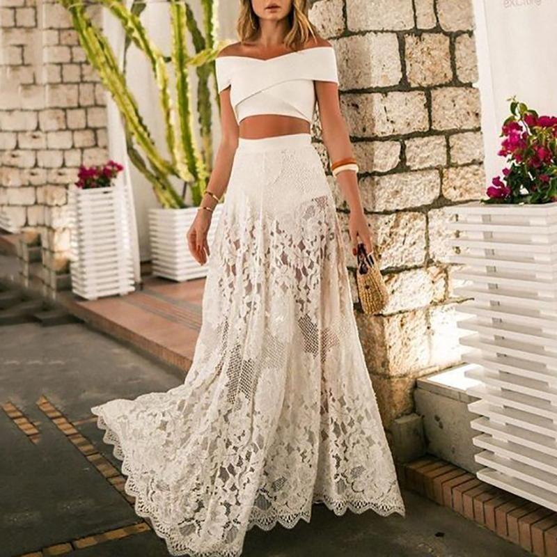 Women Pure Color Perspective Sunscreen Evening Dress Suit