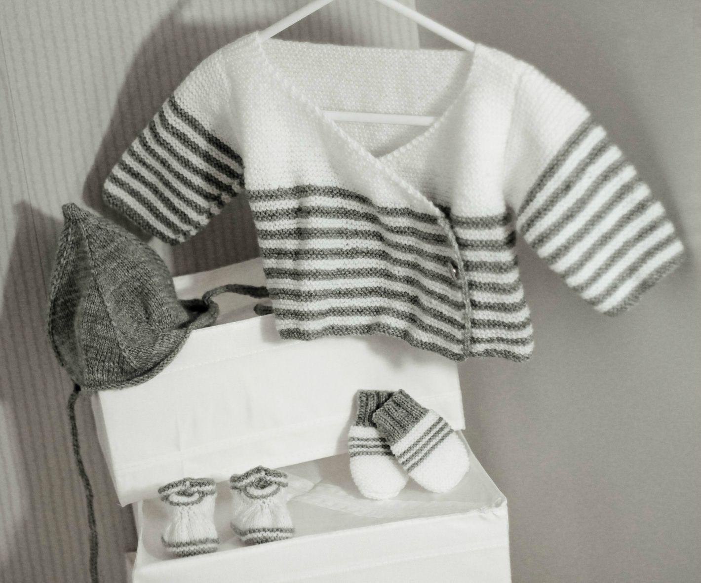 modele patron tricot bebe