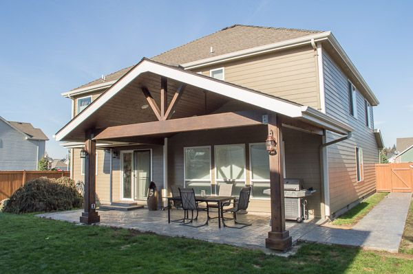 Gable patio cover in albany at patio for Gable patio designs