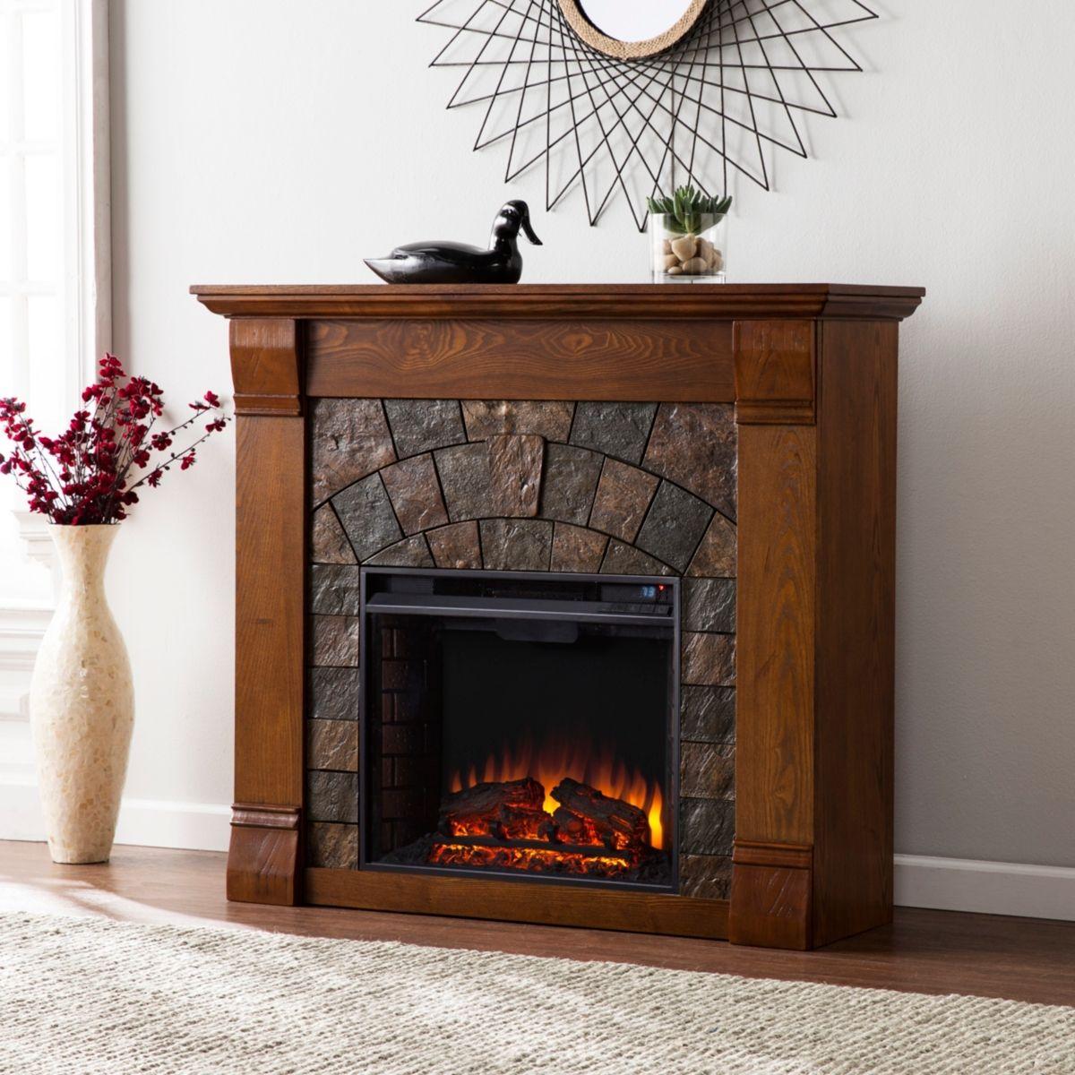 Southern Enterprises Shoreham El Fireplace Reviews Furniture