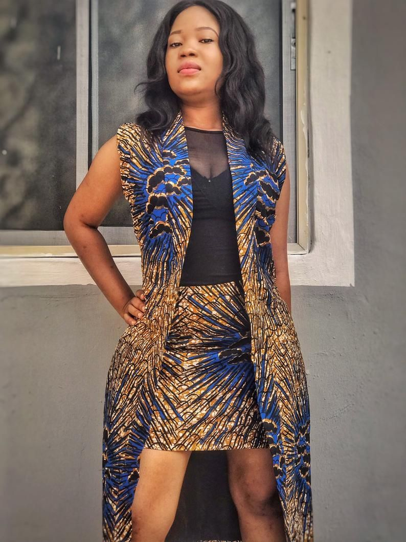 1000 Images About African Print 2 Piece Outfit On: Ankara Two Piece Jacket And Mini Skirt, Ankara Dress In