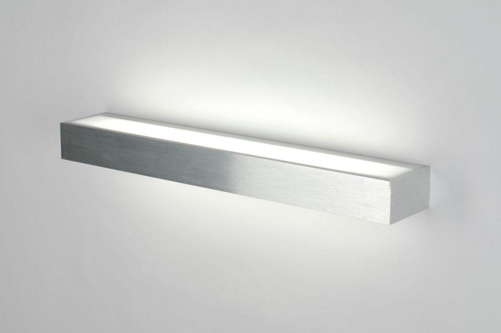 wandlamp badkamer. 70187: modern, aluminium, kunststof, langwerpig ...
