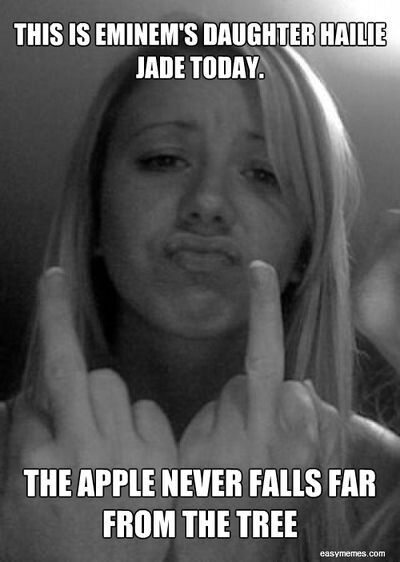 Eminem's Hailie...*Tree's apple*