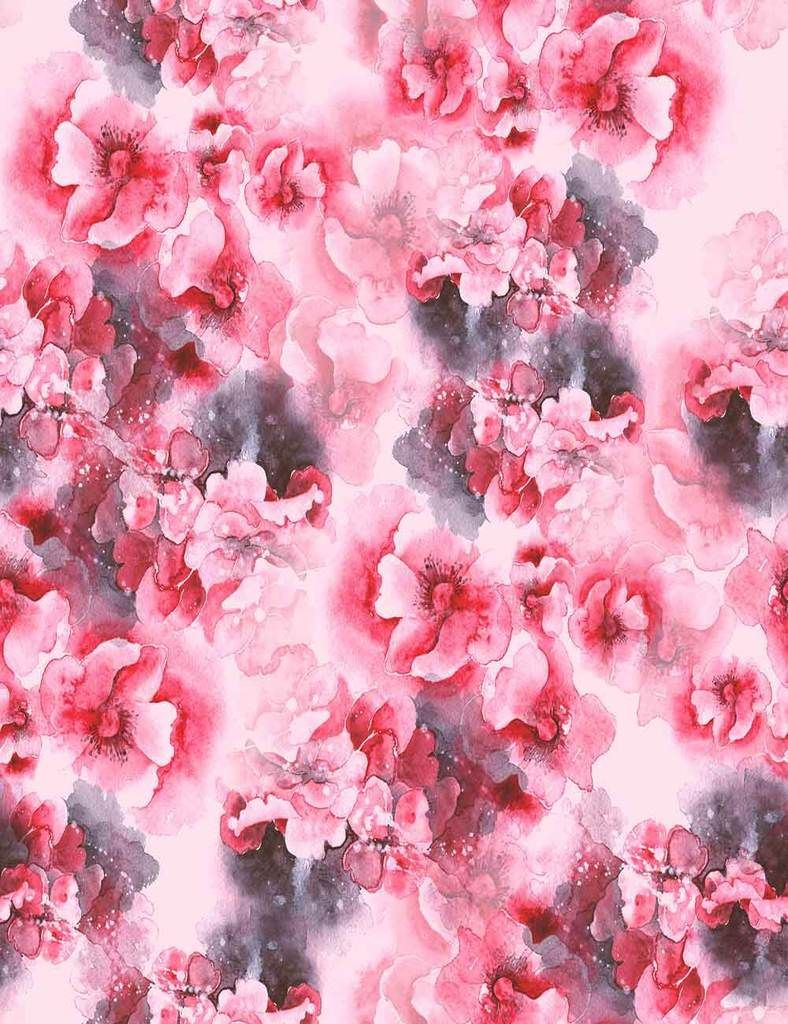 Abstract Hand Painted Watercolor Pink Red Flower Photography