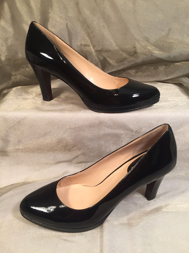 082b69ca180 COLE HAAN NIKE AIR Black Patent Leather High Heel Pump Women's 9 B ...